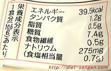 ローカロ生活 緑黄色ぞうすい 栄養成分